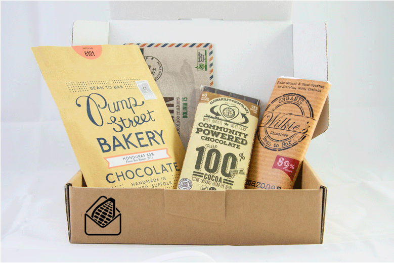 Dark chocolate subscription box