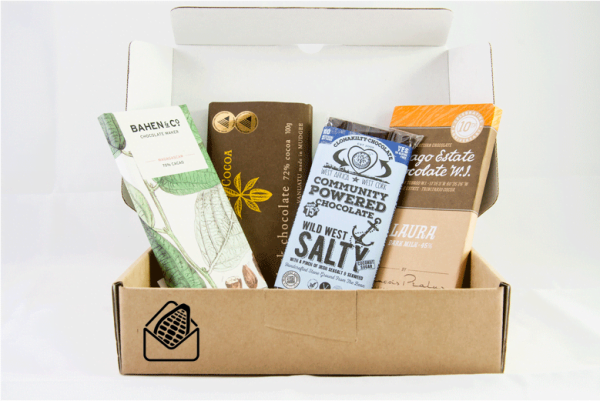 Bean to bar chocolate subscription box