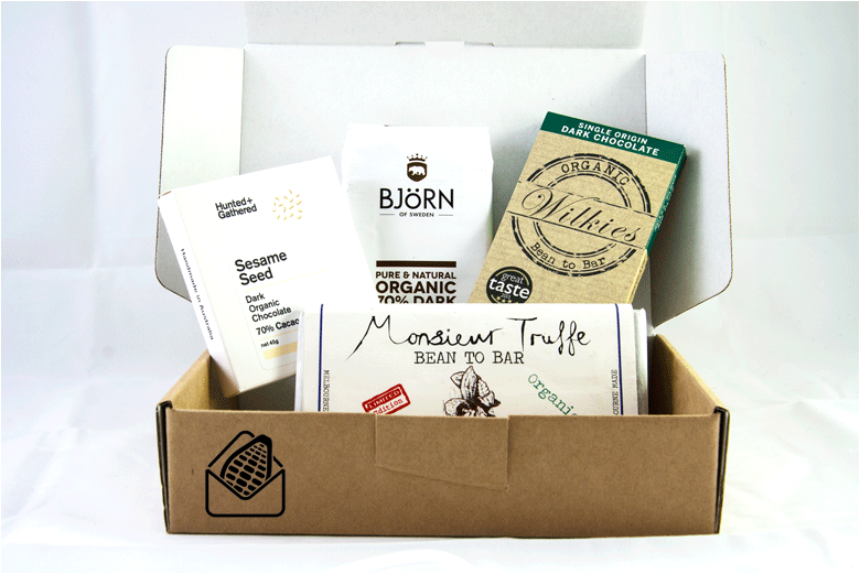 Vegan chocolate subscription box