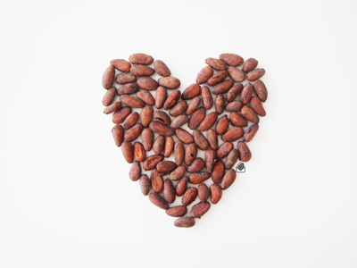 Cacao bean heart