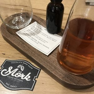 Cacao tea at Mork Chocolate by Bean Bar You