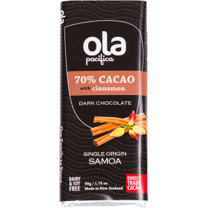 Ola Pacifica - 70% Cacao with natural cinnamon