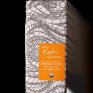 Raaka virgin chocolate - Maple and nibs