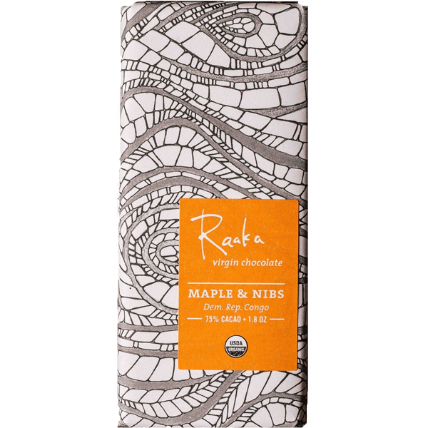 Raaka virgin chocolate - Maple and nibs