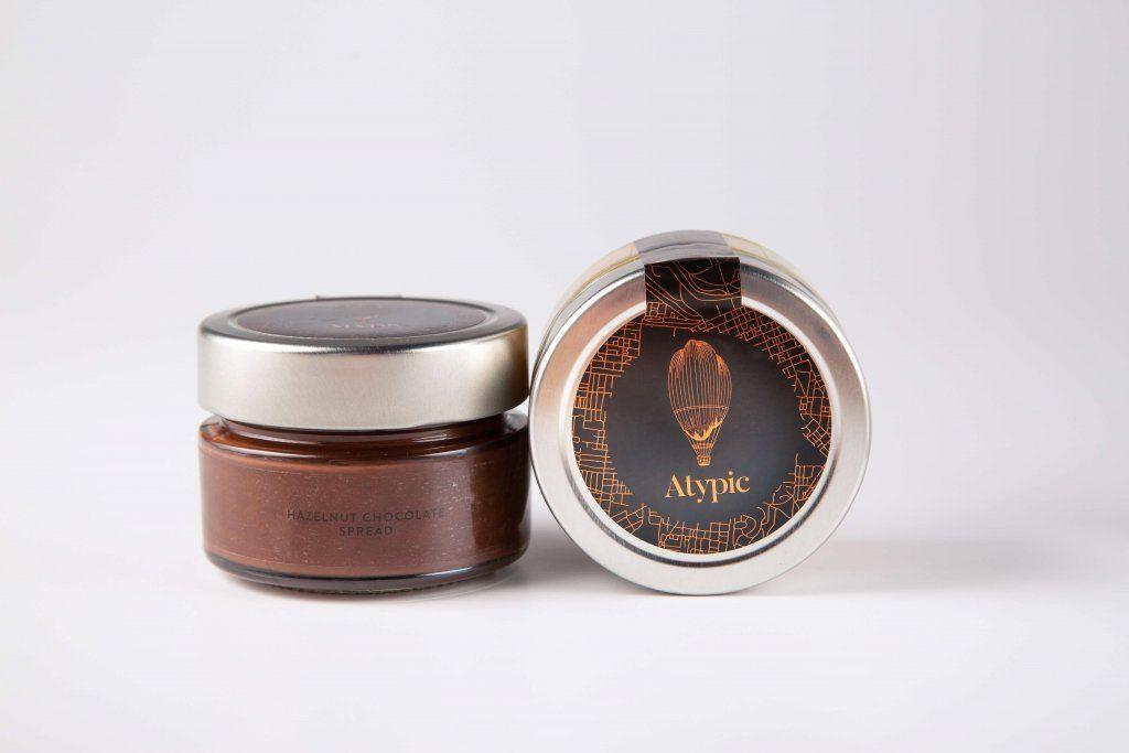 Chocolate hazelnut spread jar
