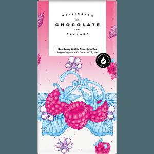 Wellington Chocolate Factory - Raspberry & Milk Chocolate Bar