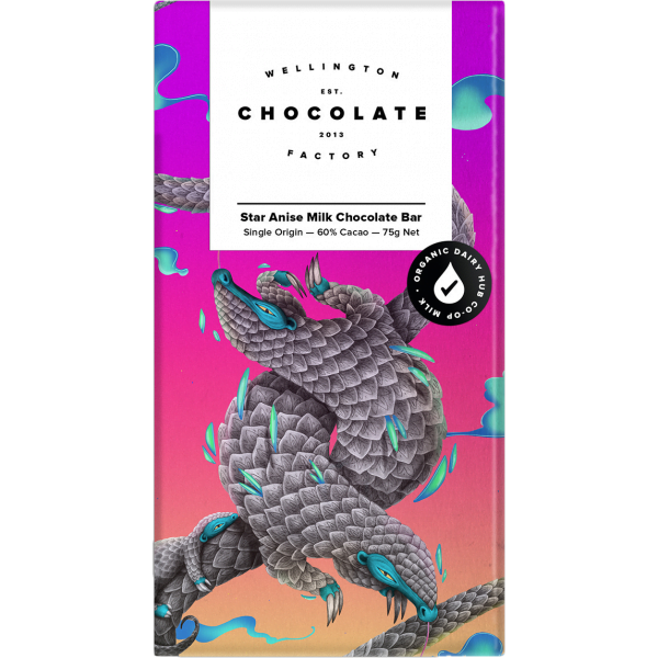 Wellington Chocolate Factory - Star Anise Milk Chocolate Bar