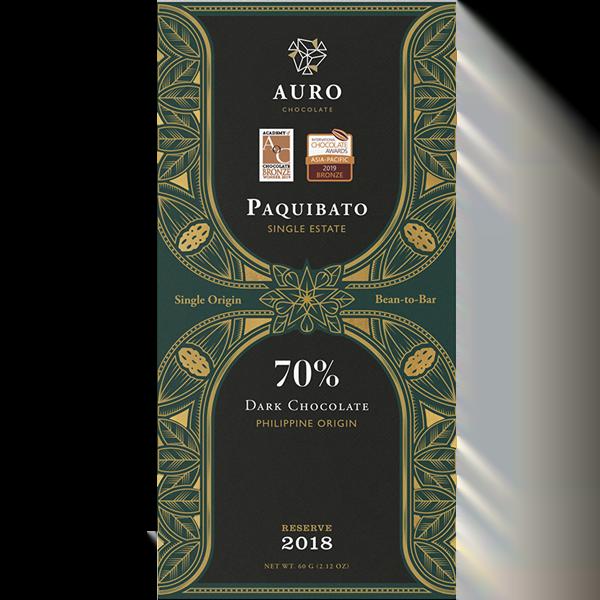 Auro Chocolate - Paquibato70% dark chocolate